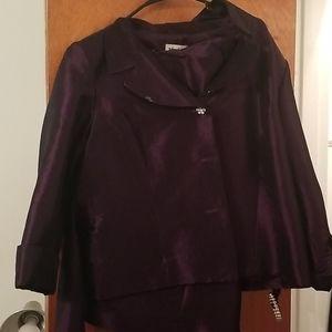 Purple 2 pc dress, skirt and jacket